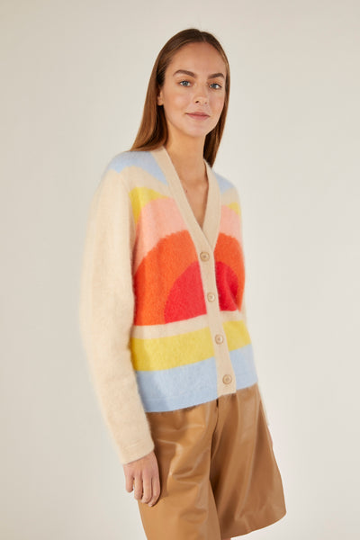 CRUSH | 21PRE | Fluffy Cashmere Rainbow  Cardigan