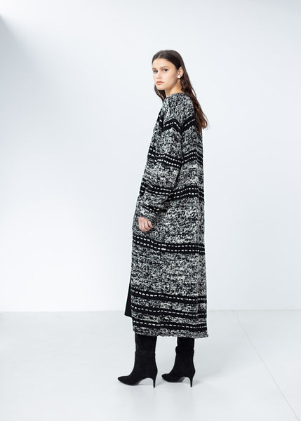 Hand-knit Recycled Cashmere Cardi Coat