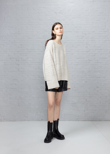Hand-knit Recycled Cashmere Sweater