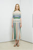 Multicolour- strips skirt