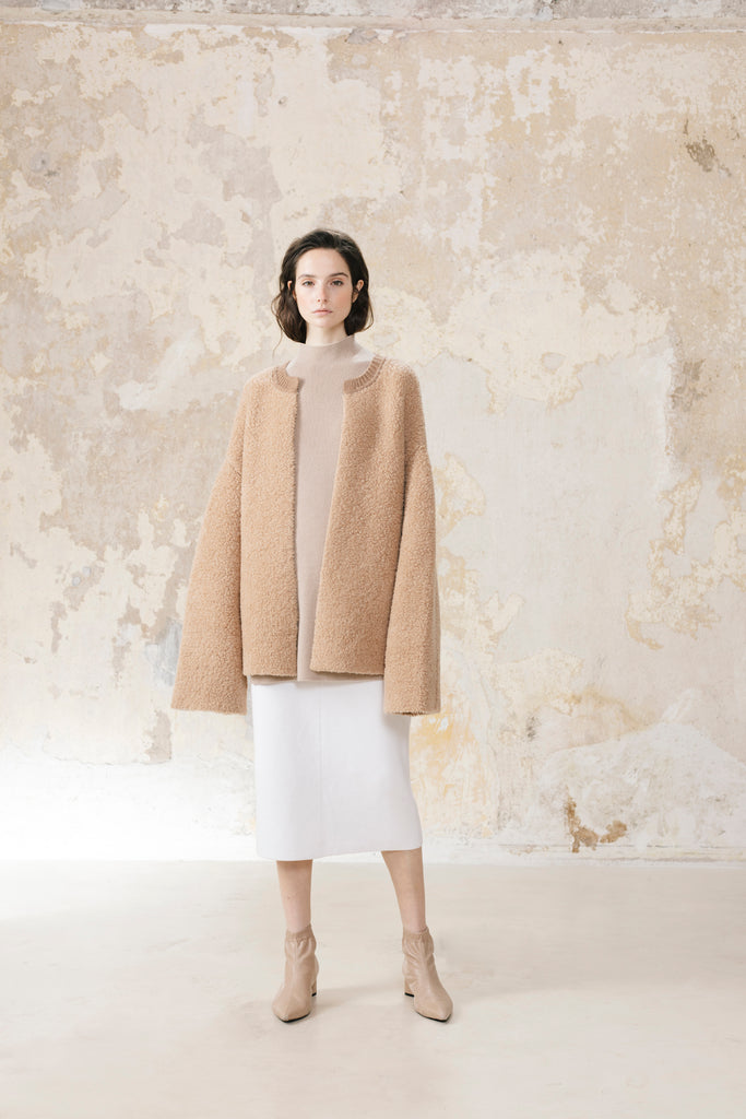 Fluffy Cardigan Wool Cashmere Blend