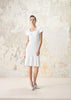 Flared Dress Cotton Linen Blend