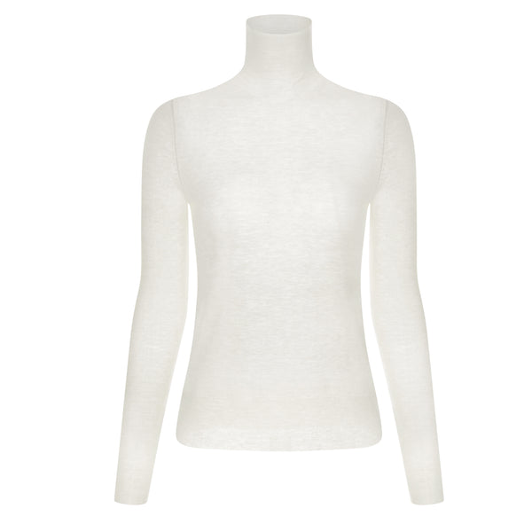 Sheer Wool  Turtleneck Top