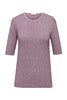 Striped Jacquard Top Cashmere Cotton Blend