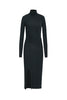 Slit Turtleneck Cashmere Dress