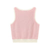 Melange Cropped  Tank Top