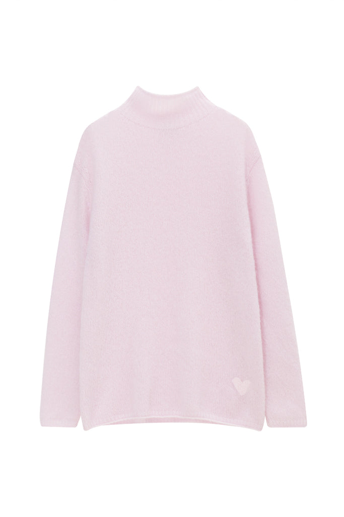 Loose knit turtleneck sweater