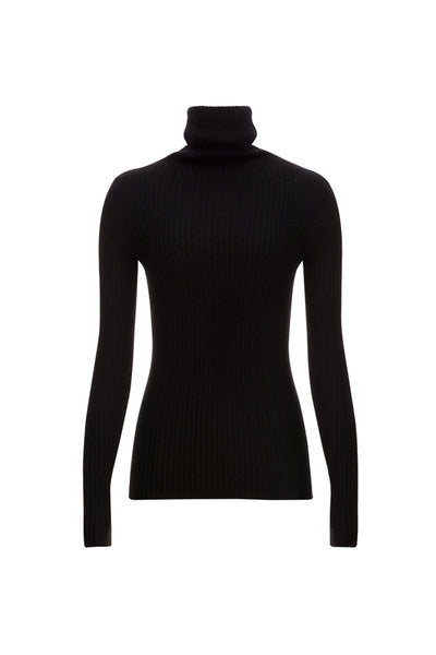 Ribbed rollneck sweater