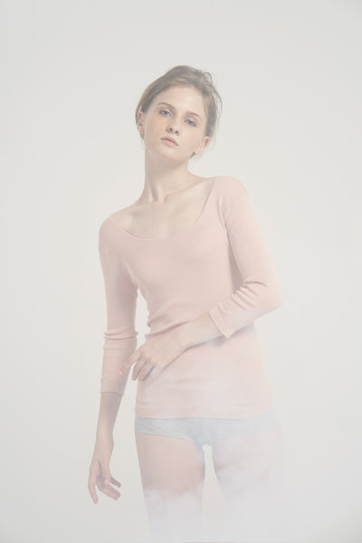 Silk ribbed round neck top