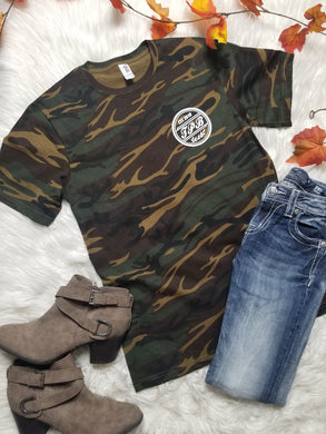 Taking Pretty Back Branded Camo Tee