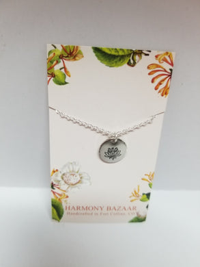 Pewter Disc Necklaces