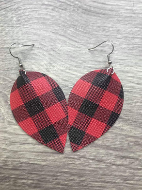 Faux Leather Handmade Earrings