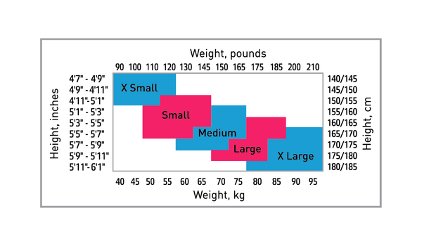 Silkii Sizing Chart for Nylons, Tights, Pantyhose, and Stockings