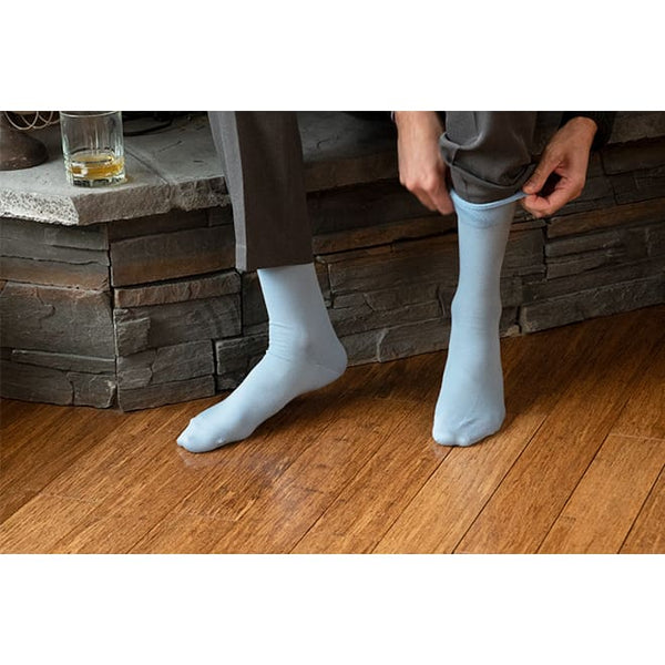 Stylish Bamboo Mens Dress Sock - Blue