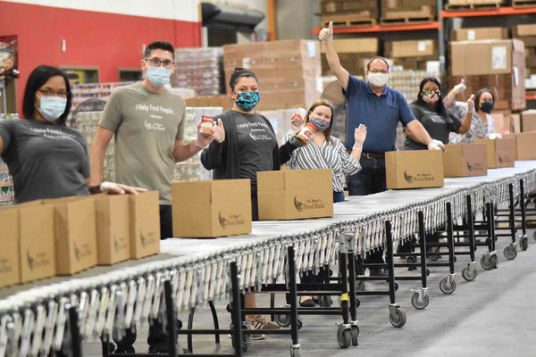 Volunteers on Assembly Line