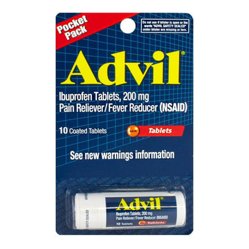 Advil Ibuprofen Hanging Vial - Carded Vial of 10
