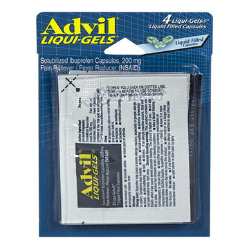 Advil Ibuprofen Liqui-Gels Carded - Card of 4