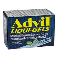 Advil Ibuprofen Liqui-Gels Box - Box of 20