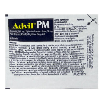 Advil PM Ibuprofen - Pack of 2