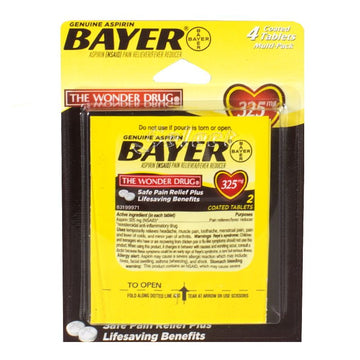 Bayer Aspirin Carded - Card of 4