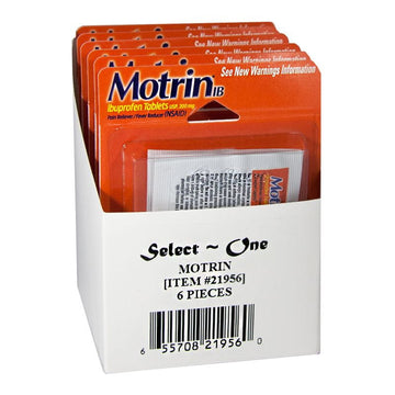 Motrin Ibuprofen Carded - Card of 4
