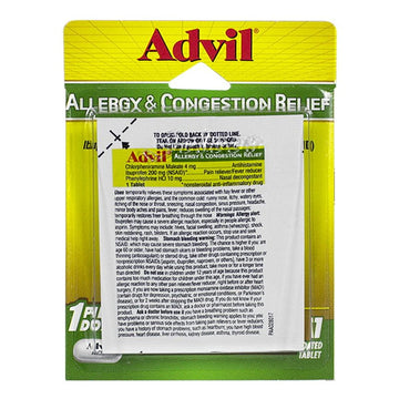 Advil Allergy & Congestion Relief - Card of 1