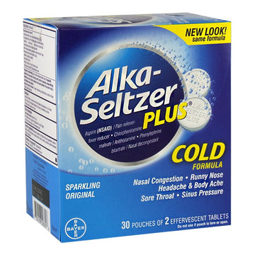 Alka Seltzer Plus Cold - Pack of 2