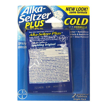 Alka Seltzer Plus Cold Carded - Card of 2
