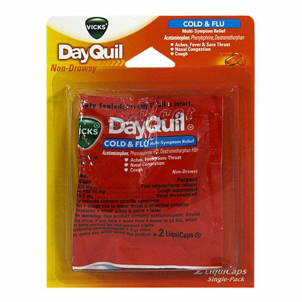DayQuil Cold & Flu Relief Carded - Card of 2