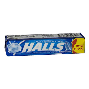 Halls Cough Suppressant Regular Drops - Stick of 9 Drops