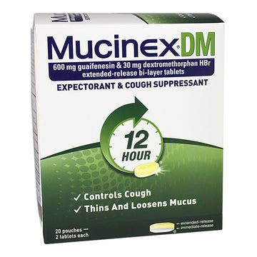 Mucinex DM Expectorant & Cough Suppressant - Pack of 2