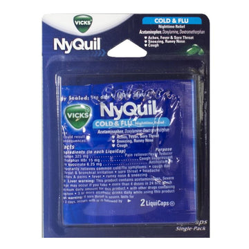 NyQuil Cold & Flu Relief - Card of 2