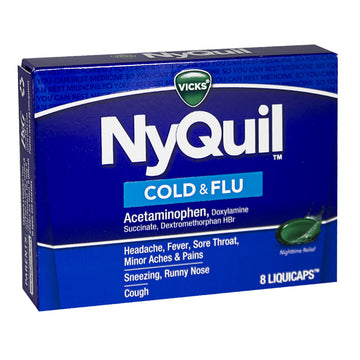 NyQuil Cold & Flu Boxed - Box of 8