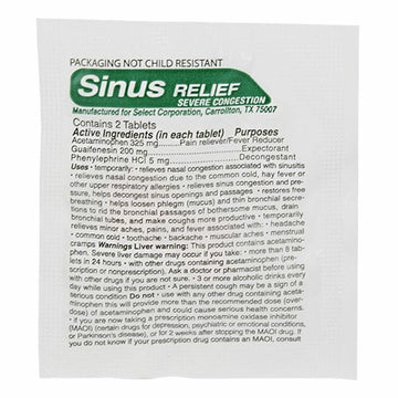 Prime Aid Compare to Tylenol Sinus - Pack of 2