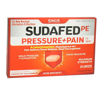 Sudafed PE Sinus Pressure + Pain - Box of 24
