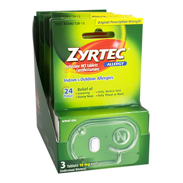 Zyrtec 24 Hour Allergy Relief - Box of 3