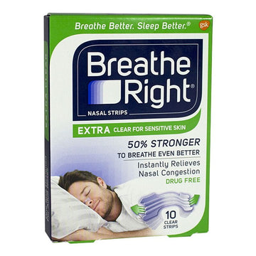 Breathe Right Extra Clear Nasal Strips - Box of 8