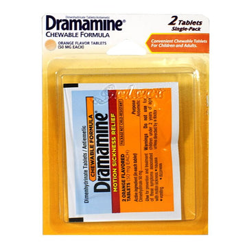 Dramamine Motion Sickness Relief Tablets Carded - Card of 2