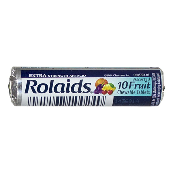 Rolaids Extra Strength Fruit Chewable Antacid - Roll of 10