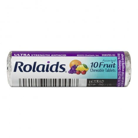 Rolaids Ultra Strength Assorted Fruit Antacid - Roll of 10