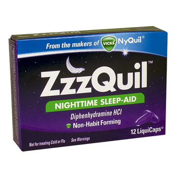 Zzzquil Nighttime Sleep-Aid - Box of 12 Liquicaps