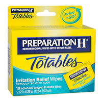 Preparation H Totables Irritation Relief Wipes - Pack of 1