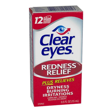 Clear Eyes 8 Hour Redness Relief Eye Drops - 0.5 oz.