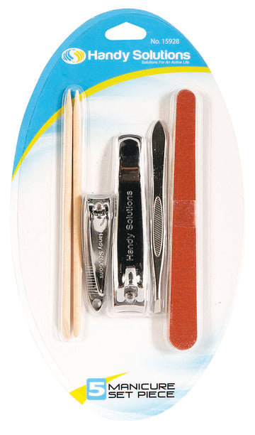 Handy Solutions Manicure Pedicure Set - 5 Piece Kit