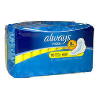 Always Regular Maxi w/Wings - Pack of 10