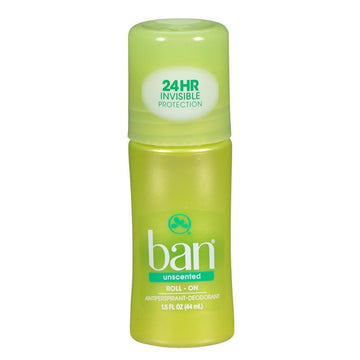 Ban Unscented Roll-On Deodorant - 1.5 oz.