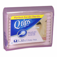Q-Tips Cotton Swabs Purse Pack - Pack of 30