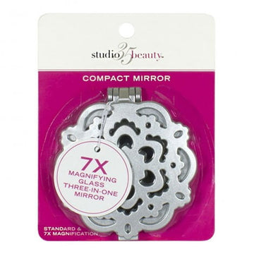 Studio 35 Beauty Compact Mirror - 7x Magnification