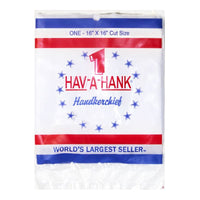 Hav-A-Hank White Cotton Handkerchief - Pack of 1