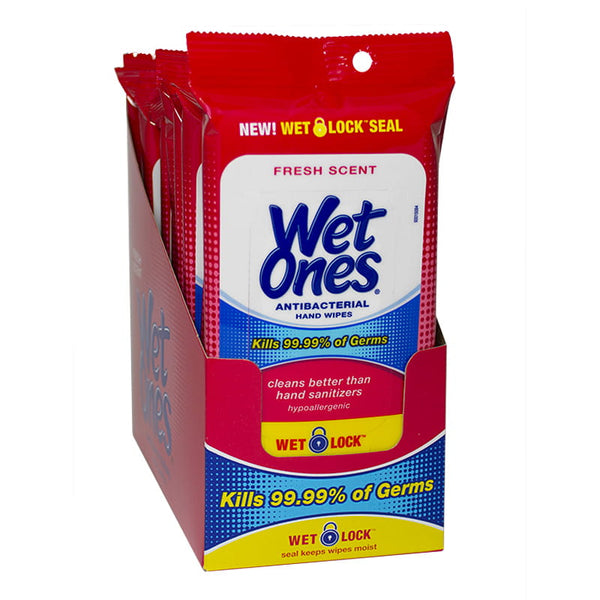 Wet Ones Antibacterial Wipes - Pack of 20